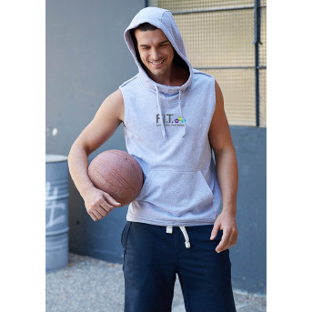 SWEAT CAPUCHE S/MCHES FIT MIXTE